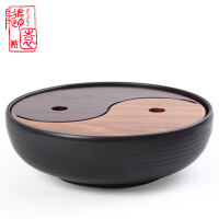 太�O陶瓷茶具茶�P��木�A形小�茶�;�梨�t木�λ�式套�b茶托�P