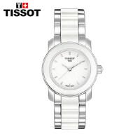 全球联保瑞士天梭TISSOT时尚石英手表T064.210.22.011.00陶瓷女表