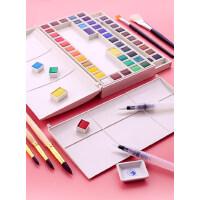 马利固体水彩颜料套装36色固体水彩颜料盒便携式24色初学者手绘分装马力固体色彩水彩画笔绘画工具画画套装