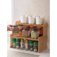 实木厨房置物架木质多功能调料架调味架家用厨具用品收纳架