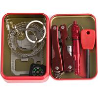 户外求生组合工具应急包多功能套装装备SOS野外自救盒生存线锯刀