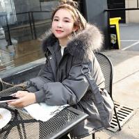 小个子羽绒服女2019冬季加厚短款大毛领服外套潮 S 建议80-125斤