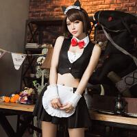 情趣派对猫女郎性感制服角色扮演诱惑cos夜店服 黑白 均码