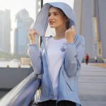 【顺心而行】诺诗兰宽松时尚春夏户外防晒皮肤衣男女upf+风衣GL075A03