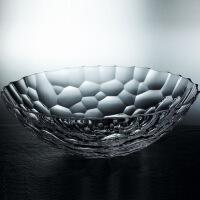 现代客厅创意水晶玻璃水果斗果盆水果盘果篮大号糖果盘果碗