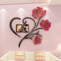 婚房装饰品卧室亚克力墙贴3d立体房间布置客厅背景墙上贴画电视墙 超