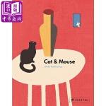【中商原版】Britta Teckentrup 猫和老鼠 英文原版 Cat and Mouse 纸板书