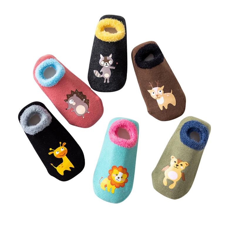地板袜宝宝fang滑底加厚儿童婴儿男女童春秋冬季学步袜子