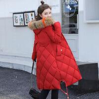 棉衣女中长款韩版20*码修身显瘦过膝加厚冬季外套 M 建议80-100斤左右