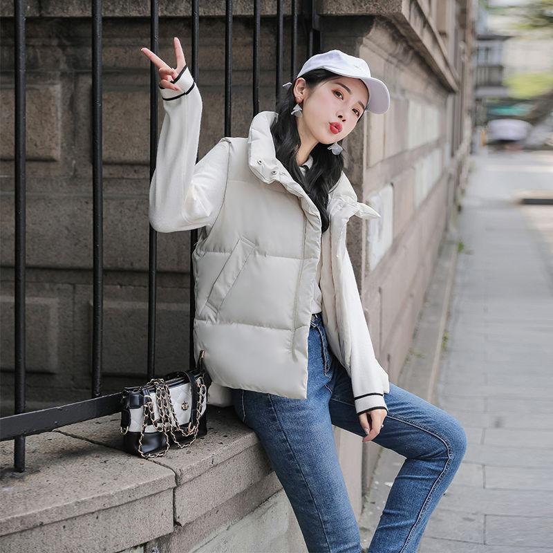 棉马甲女短款秋冬季2019韩版时尚宽松立领棉袄马夹背心外套