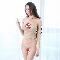 情趣肚兜睡衣女士性感内衣诱惑古代宫廷透明小胸套装 均码