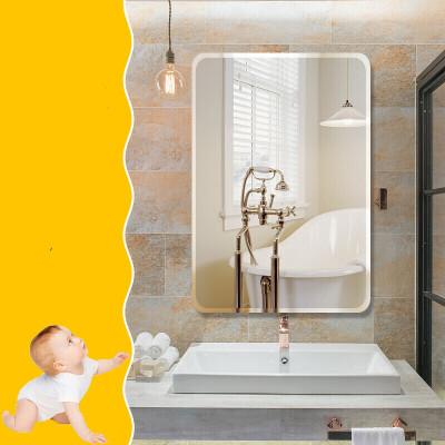 浴室壁挂镜子化妆镜浴室镜子贴墙免打孔卫生间自粘卫浴镜厕所洗手间玻璃镜化妆镜壁挂  其他
