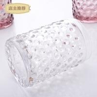 欧式创意漱口杯子可爱家用情侣玻璃牙刷杯浴室刷牙洗漱杯套装SN4360 珠点款 透明色