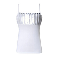 大码吊带莫代尔正装西装打底衫职业装小背心女工作服内搭胖MM 白色 S