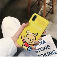 蜂蜜罐维尼熊iPhone Xs MAX手机卡通iphone7plus手机套情侣苹果6s全包软壳男女款 iPhone X