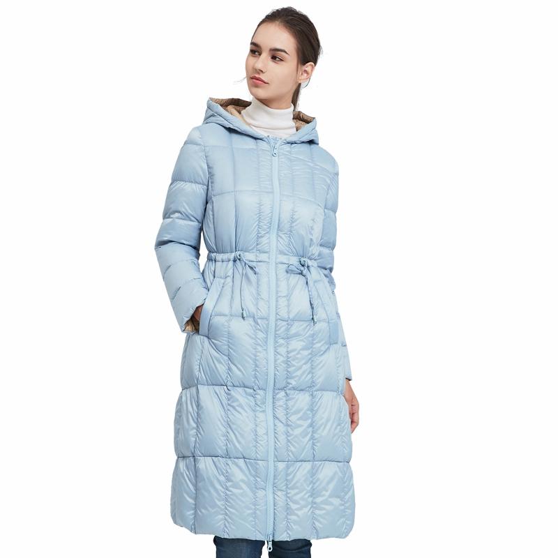 网易严选 女式双色修身长款羽绒服丰富双色效果,轻松搭配时尚感