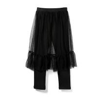 女童打底裙裤中大童新款秋冬洋气假两件网纱蓬蓬打底裙裤