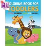 【中商海外直订】Coloring Book for Toddlers Ages 1-3: Letters, Numbe