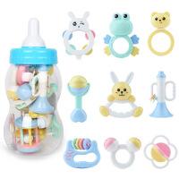 新品摇铃13件套 玩具 儿童玩具 婴儿奶瓶套装 摇铃(Q33-3B)+洗澡玩具