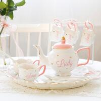 咖啡杯欧式小简约套装英式下午茶茶具茶杯家用陶瓷水杯具整套