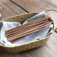 宝宝练习筷天然鸡翅木红檀木儿童宝宝幼儿园无漆无蜡筷子学习筷