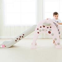 宝宝滑梯儿童室内小型塑料滑梯儿童玩具家用滑滑梯加长滑梯组合定制 长颈鹿滑梯樱花粉