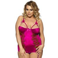 性感女士情趣内衣套装诱惑加肥加大码显瘦睡衣胖MM制服200斤 红色