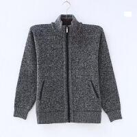 秋冬季男士毛衣针织衫开衫羊绒羊毛衫加厚加绒中年中老年人爸爸装