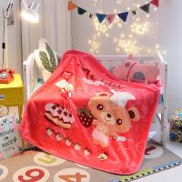 拉舍尔卡通毛毯婴儿小毯子双层加厚双面学生宿舍珊瑚绒冬季童毯 100cmx120cm