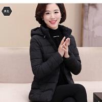 冬季外套棉袄女短款大码棉衣修身显瘦加厚中老年妈妈装冬装50
