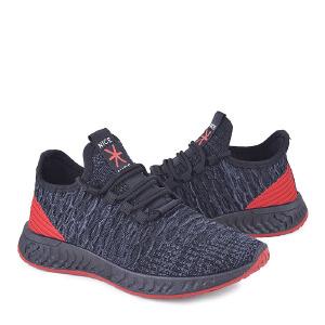 春季新款飞织布新款男鞋低帮跑步鞋软底休闲运动鞋男跨境男鞋