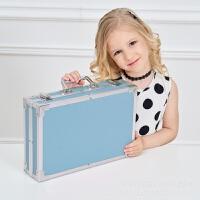 水彩笔 绘画 水彩笔套装儿童绘画套装蜡笔彩色铅笔儿童画画工具小朋友礼品画具 蓝色铝盒145件套