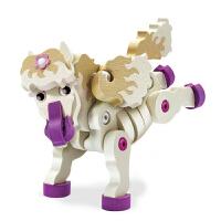 恐龙3D立体拼装EVA积木玩具儿童拼插恐龙积木男孩拼图模型 小马 3105