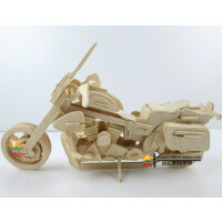 儿童玩具木头小车模型 木制拼装仿真跑车1:32哈雷摩托车模型玩具