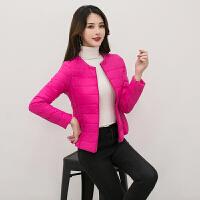 2019韩版时尚短款立领轻薄薄款修身羽绒服女外套 X