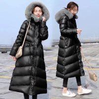 2019冬季韩版双毛领仙女羽绒服女中长款修身显瘦外套