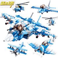 【六一儿童节特惠】 兼容legao积木飞机8战狼战斗机10益智拼装男孩子6-14岁以上 728颗粒六合一战狼飞机