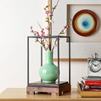 大型仿真花客厅玄关装饰整体花艺桃花配陶瓷花瓶摆件
