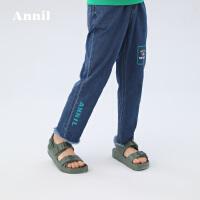 【活动价:174】安奈儿童装男童牛仔单裤2020春季新款棉弹百搭牛仔裤