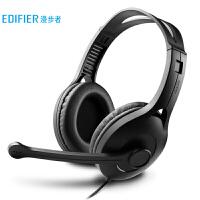 漫步者 USB K800 �W生�W�n耳�� �^戴式��X耳�C 在�教育�力�υ�耳�� 黑色