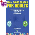 【中商海外直订】100+ Word Search for Adults: With Hidden Funny Quot