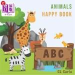 【中商海外直订】Animals ABC Happy Book: For Kids Toddlers And Presc