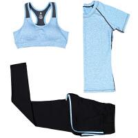三件套健身衣女套装 健身房瑜伽服女套装 春夏款运动套装女