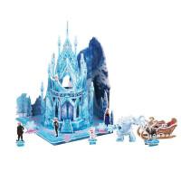 冰雪奇缘艾莎美鱼白雪公主城堡米奇立体拼图女孩玩具抖音