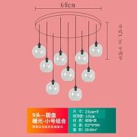 泡泡灯吊灯北欧餐厅吧台灯现代简约创意个性网红奶茶店橱窗泡泡玻璃球小吊灯