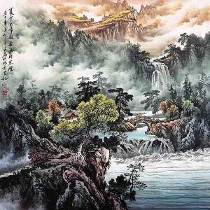 国家一级美术师,中美协常务理事,被业界称为长城画派第一人王大为(夏云生嶂)43