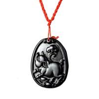 梦克拉 砭石项链吊坠 十二生肖吊坠生肖猪