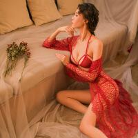 沙滩性感蕾丝透明波西米亚风吊带睡裙情趣内衣睡衣激情比基尼套装 均码