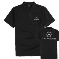 汽车工作服男夏夏汽车4s店奔驰AMG宝马工装工作服定制polo衫印字绣logo男短袖T恤
