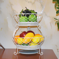 水果篮客厅水果盘创意时尚果盆欧式带接水盆果盘厨房铁架餐具